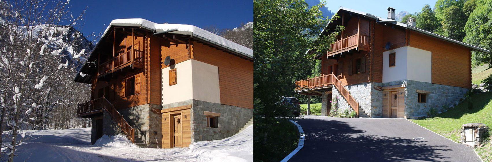 Chalet en Savoie Mont-Blanc coté hiver - été